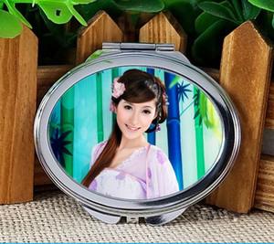 transfert hermique vierge miroirs de maquillage ovales sublimation de colorant miroir cosmétique Consommables sublimants pour transfert de chaleur semi-fini