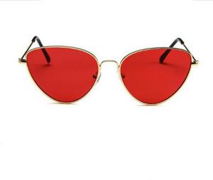 Die neue 2018 Metall Katzenauge Sonnenbrille Europa und die Vereinigten Staaten Marine Persönlichkeit Stück Sonnenbrille Trend Sonnenschirme heißen Stil heißer Trend