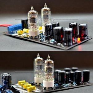Freeshipping AC 12V Fidelidad musical 6j1 6AK5 tubo Preamplificador de amplificador previo para VCD, CD, DVD amplificador de potencia de audio digital