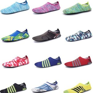 24 Color Unisex Transpirable Aqua Surf Natación Agua Fittness Antideslizante Flexible Ocio Deporte Soft Beach Shoes CCA9567 50 pares