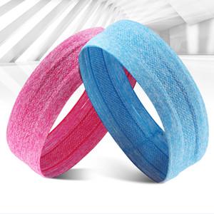 Colores Caramelo Elástico Banda para el cabello Secado rápido Suave para adelgazar Diadema Deporte Sweatband Filete para suministros de ejercicio de alta calidad 7 48gy Z