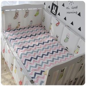Promotion! 6PCS crib bedding set baby cot sets baby bed bumper ,120*60 120*70cm