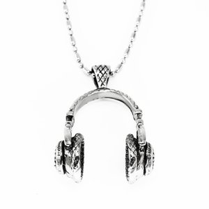 316# Stainless Steel headset earphones Pendant necklace punk style Personality act the role ofing is tasted