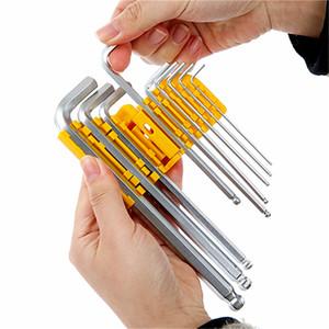 Frete grátis allen hex wrench set 9 pcs bola plana cabeça hexagonal chave combinada torx chave chrome vanadium liga de aço