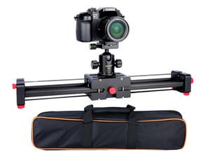 카메라 비디오 슬라이더 돌리 50cm 트랙 레일 안정기 캐논 니콘에 대한 더블 거리 100cm 슬라이딩 소니 DSLR DV 카메라 돌리
