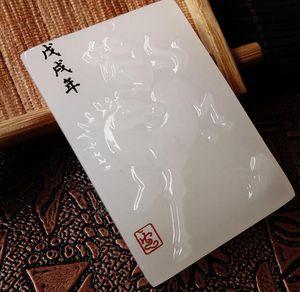 Doğal Afgan Beyaz Jade Guan Gong Zhongyi Qianqiu Marka Büyük Bıçak Fortune Kolye