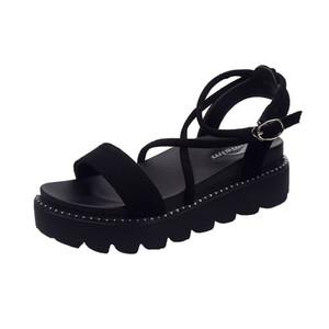 2018 Марка Обувь Женщина Chaussures Femme Sandalias Zapatos Mujer Повседневная Платформа Плоские Сандалии Лето Scarpe Женская Обувь Sapato Feminino