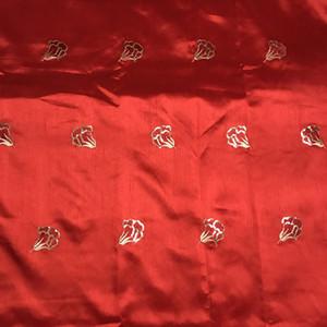 KERYLACE Blanc Rouge Haute Qualité Nigeria George Dentelle Nouvelle soie africaine Tissu français brodé design Paillettes Tissu Femmes Robes de mariée