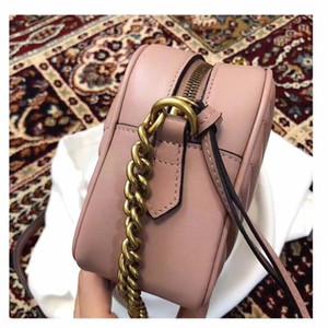 Cowskin stile Marmont Top borse sacchetti di spalla di qualità donne crossbody borse della borsa bella con il codice della data sacchetto di polvere