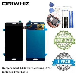 Oriwhiz OLED kalite Samsung A710 A720 J710 Için LCD Ekran Yedek Ekran Dokunmatik Ekran Digitizer ücretsiz tamir araçları ile