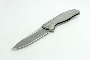 Flipper Modeli 95 Özel Bölümü w / Çıplaklar Ti Çerçeve Beyaz Titanyum Kolu D2 Blade Katlanır Bıçak EDC Taktik Araçları Ücretsiz Kargo