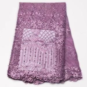 Африканский тюль кружевной ткани французский чистая кружева Нигерии гипюр кружева с beadings тюль GYNL0062 вышивки
