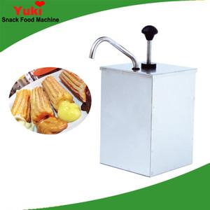 Riempitrice di marmellata di churros manuale commerciale riempitrice di riempimento di marmellata di acciaio inossidabile mini snack food equipment NP-29 tramoggia di marmellata