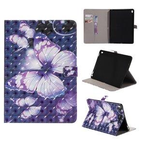 3D 그림 패턴 가죽 지갑 자동 수면 웨이크 타블렛 케이스 삼성 iPad 2 / 3 / 4 5 6 프로 10.5 미니 4