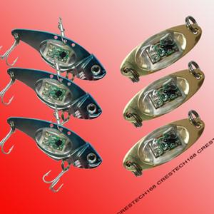 Señuelos de pesca LED Flash LED Light Spoon Bass Muti Colors Halibut Flasher Trolling de agua salada Deep Drop Pesca Underwater Night