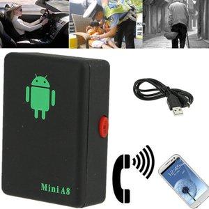 Commercio all'ingrosso Mini A8 Tempo reale Car GPS Locator globale di monitoraggio GSM dispositivo per trasporto auto domestico del capretto DHL libera