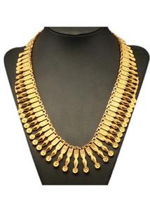 Yeni Moda Takı El Yapımı Paslanmaz Çelik Altın Renk Bayan Kolye Kral Takı Toptan Trendy Doğrudan Kazak Zincir Kolye