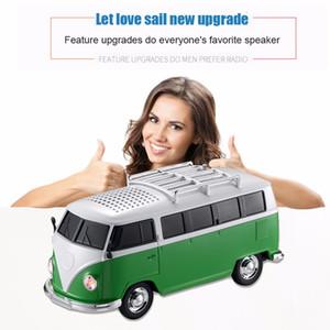 بلوتوث المتكلم مصغرة الملونة شكل سيارة المتكلم مصغرة الحافلة رئيس صندوق الصوت MP3 ++ U القرص + TF + FM وظيفة + بلوتوث