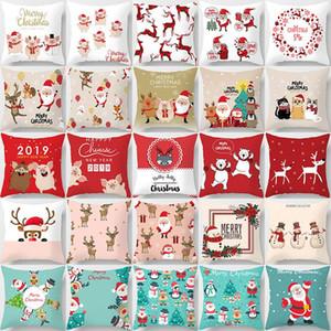 Merry Christmas Dekorasyon Ev Noel Yastık PillowCase için Yastık Atmak Yastık Mutlu Yeni Yıl Deco Kapakları