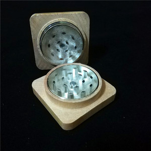 Commercio all'ingrosso New Square Wood Grinders Herb Grinder Legno Herb Tobias Grinders 50mm Legno Grinders Spedizione Gratuita