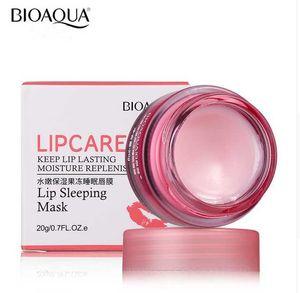 BIOAQUA Strawberry Lip Sleeping Mask Exfoliante Labios Bálsamo Hidratante Nourish Lip Plumper Enhancer Vitamin Skin Care Night Cream