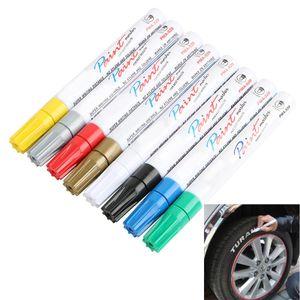 8 Farben weißer wasserdichter dauerhafter Farben-Markierungs-Gummifeder-Autoreifen-Schritt-Klimareifen-Anstrich geben Verschiffen frei