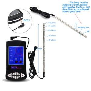 Catéteres eléctricos Pene Plug Uretral Wall Urethral Sonidos Home Medical Themed Toy Fisioterapia Productos de sexo para hombre