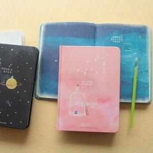 Tendencia creativa Páginas de color A5 NotLile Blue House Diary Book Diario de tapa dura Korea Stationery School Supplies