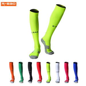 R-BAO الرجال الكبار لكرة القدم جوارب الدراجات الجوارب كرة القدم طويلة الأحذية الكاحل و العجل القدم الجوارب النساء رشاقته القطن الرياضة chaussette