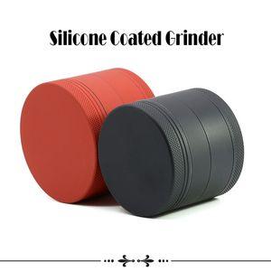 Silikon Coated Grinder 4 Stück Durchmesser 63mm 55mm 50mm 40mm Aluminiumlegierung Grinders Herb Grinder Sharp Steinschleifer