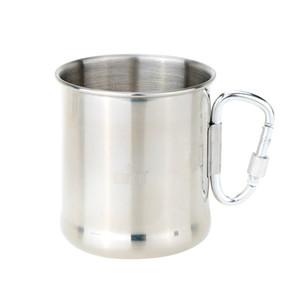 Y1222 250 ml Caneca de Aço Inoxidável com Dobrável Self-lock Mosquetão Handle Folding Handle Cup