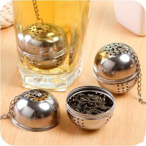 Yeni Temel Paslanmaz Çelik Topu Çay Demlik Örgü Filtre Süzgeç w / kanca Gevşek Çay Yaprağı Spice Ev Mutfak Aksesuarları