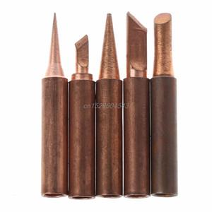 5 piezas de cobre puro 900M-T punta de soldador sin plomo para Hakko soldadura estación de reanimación consejos de soldadura R06 nave de la gota
