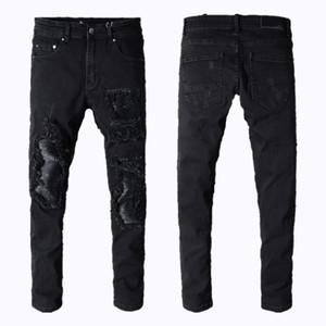 Mens jeans miri sport course moto motard jeans maigre mince déchiré populaire mendiant cool trou chiné pantalon hommes jeans de designer