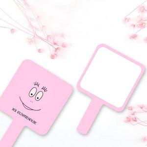 3CE Eunhye House Brand Makeup Mirror BABA Seris Pink Espejos cosméticos Easy To Carry Mini Espejo Smiling Short Handle Mirrors