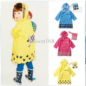 2018 귀여운 Smally Children Raincoat 키즈 레인 코트 케이프 판쵸 아기 아이 비옷 방수 코트 Rain Gear