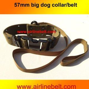 Großhandel Super starke große Acetal Break-away Schnalle Metallkarabiner Wide Army Dog Collars Olivgrüne Hundeleinen für große Hunde
