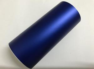 1.52 * 18 M Saten Araba Sarma Filmi Koyu Mavi Mat Krom PVC Vinil Kendinden Yapışkanlı Film