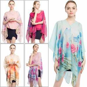 Paisley Sarong Foulards Écran solaire Châle Imprimer Bikini Cover Ups Femmes Poncho Serviettes De Plage Mode Wrap Pashmina cardigan Maillots De Bain Vêtements De Plage