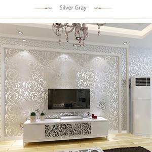 현대 패션 부직포 크로 셰 뜨개질 꽃 3D 배경 화면 절묘한 양각 디자인 바탕 화면에 대한 벽지 벽의 거실을위한 디자인