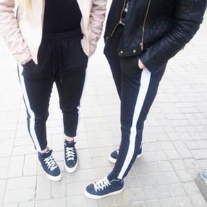 Deviz Королева свободные тренировочные брюки Женские брюки с полосками черные тренировочные брюки Женские бегуном брюки Женские летние брюки