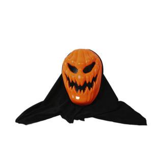 Halloween Pumpkin Mask Ghost Festival Plastic Pumpkin Full Face Headgear Mascara de Mueca Para Fiesta de Carnaval Bar Decoración