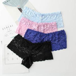 2017 Fashion panties female sexy embroidery briefs plus size panty breath mesh women underwear ladies' underwear S-5XL