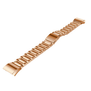 Para Fitbit Charge Correa de reloj de pulsera de acero inoxidable de 2 correas para Fitbit Charge2 Band Reemplazo de pulsera de reloj inteligente Colorido