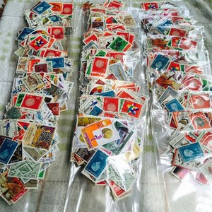 No Repeat Postage Stamps Collections From All Over The World With Post Mark Stamp Postal All Used For Collection 300 PCS Lot