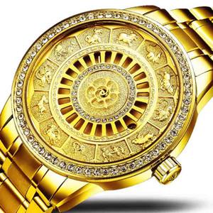 tevise wengle Nuovo orologio da uomo con diamanti automatico da uomo. Orologi meccanici automatici. Calendario impermeabile. Orologio in acciaio