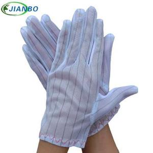 Kostenloser Versand 2 Paar ESD Weiß Antistatische Handschuhe Elektronische Industrielle Arbeiten Staubdicht Werkstattschutz Großhandel
