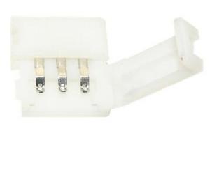 100 pz / lotto pin connettore pin pin connettore pin adattatore 5pin per 5050 rgb striscia di luce a LED senza saldatura 8mm 10mm 12mm larghezza connessione rapida