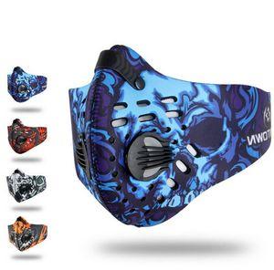 Erkek / Kadın Karbon Toz geçirmez Bisiklet Yüz Karşıtı Kirlilik Bisiklet Bisiklet Açık Eğitim maske yüz kalkanı FT103 Maske Aktif