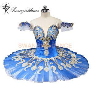 Blue Swan Lake Frauen Sugar Plum Fairy Professionelle Tutu Für Mädchen Dornröschen Klassische Ballett-tutu Bühnenkostüme Competitons BT9134C